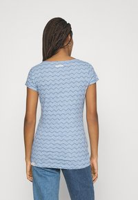 Ragwear - CHEVRON - Print T-shirt - blue - 2