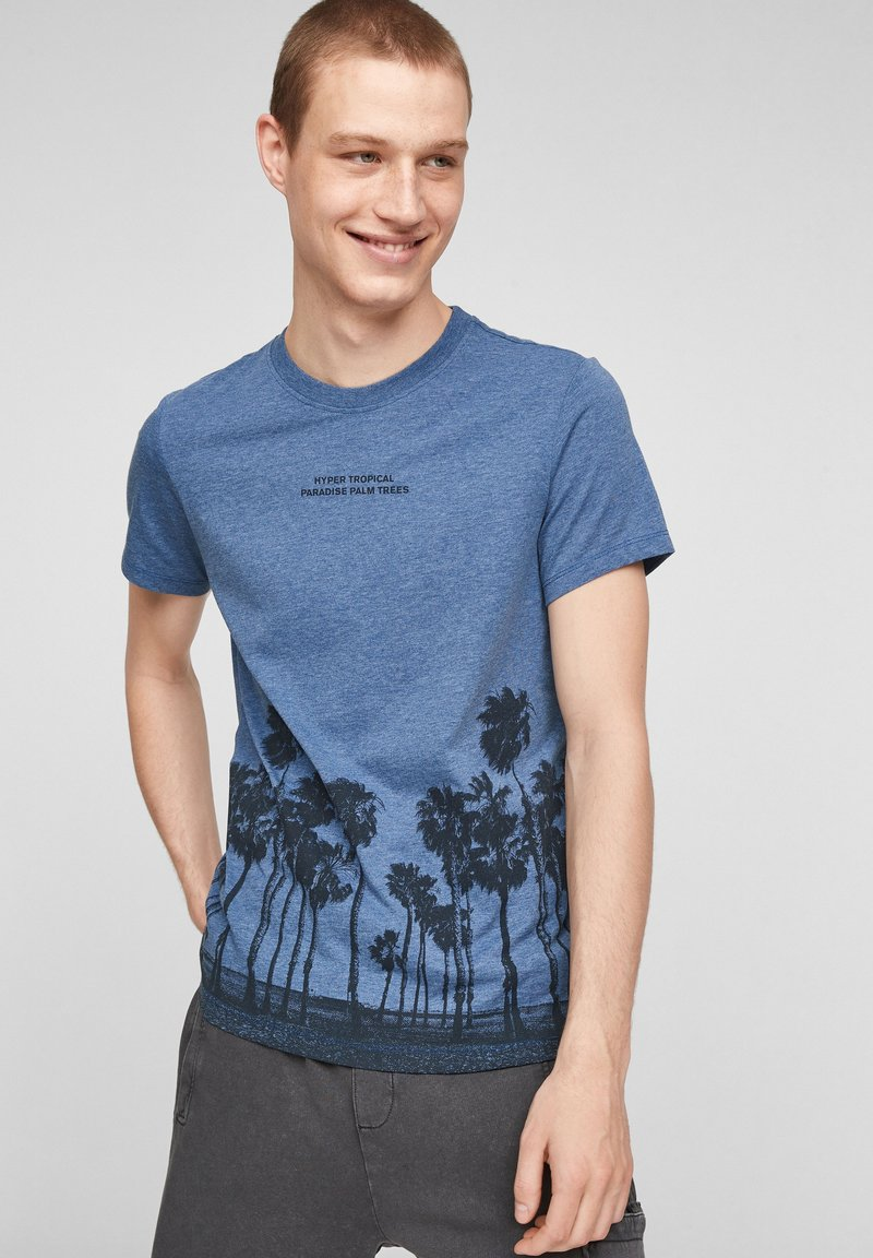 QS by s.Oliver - Print T-shirt - blue
