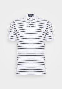 PIMA POLO - Polo shirt - white/french navy