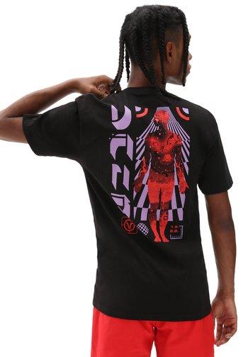 MN BEAMED SS - Print T-shirt - black