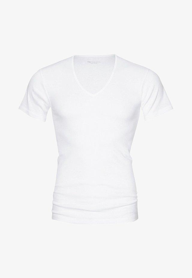 MIT V-AUSSCHNITT - Undershirt - white
