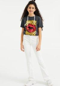WE Fashion - Print T-shirt - dark grey - 0