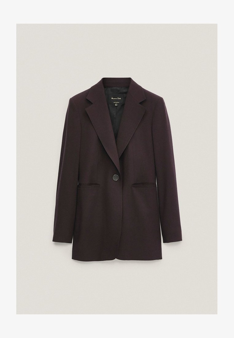 Massimo Dutti - Short coat - dark purple