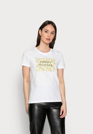 REGULAR GRAPHIC TEE - T-shirt z nadrukiem - white