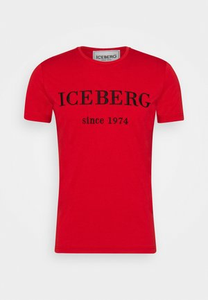 T-shirt med print - red