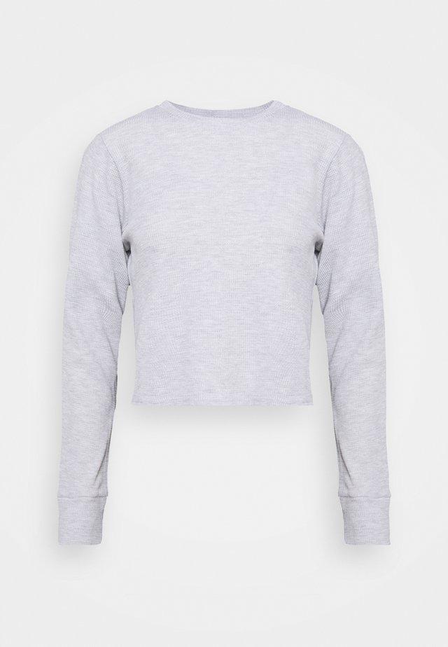 CROSS BACK LONG SLEEVE - Langærmede T-shirts - grey marle