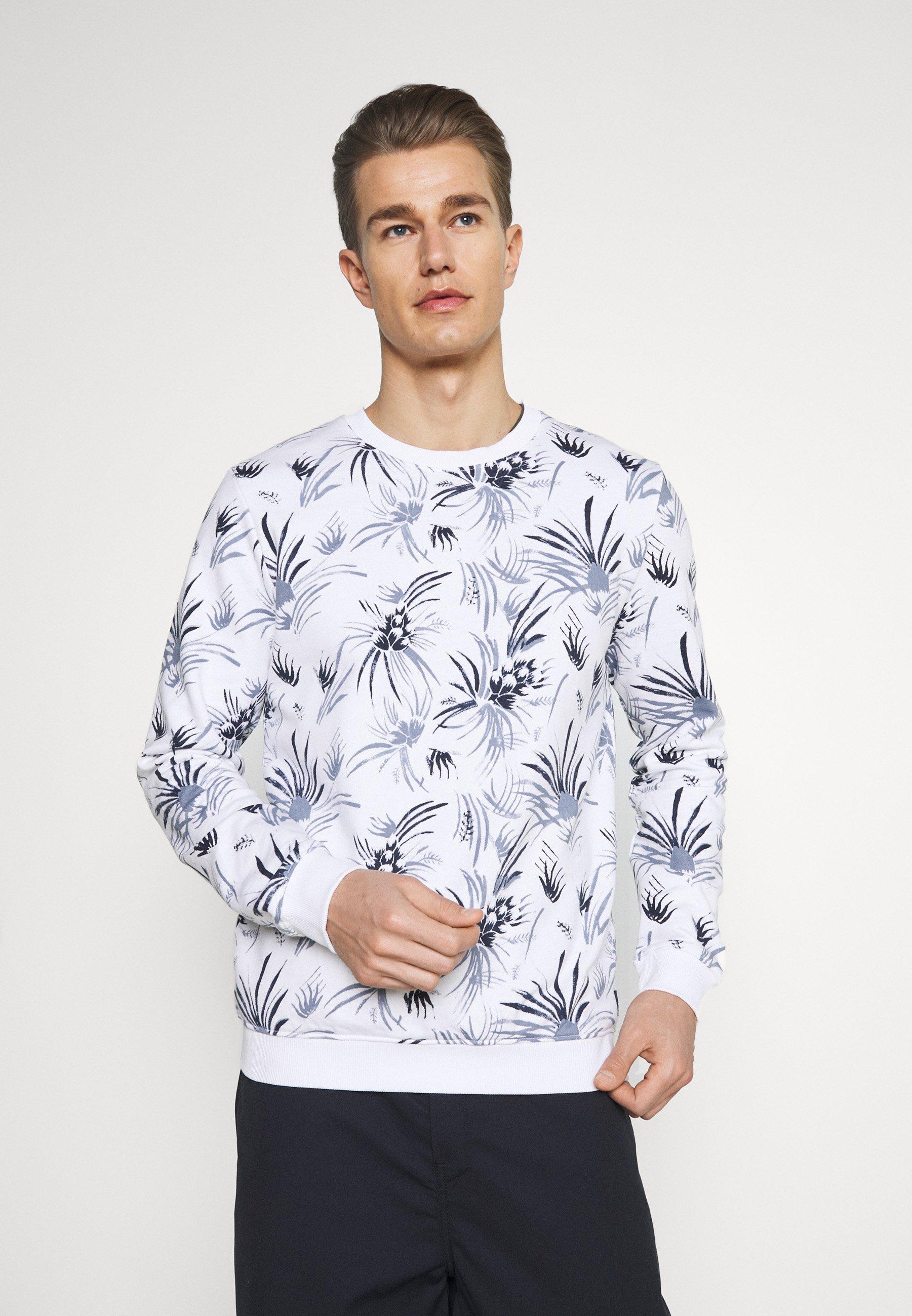 Men CREWNECK WITH ALLOVER PRINT - Sweatshirt