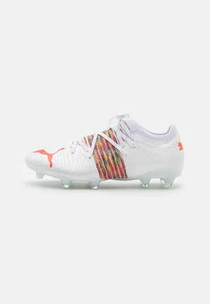 FUTURE Z 2.1 FG/AG - Moulded stud football boots - white/red blast