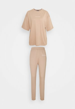 OVERSIZED SET - Tracksuit bottoms - mocha