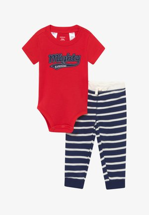 MIGHTY - Trousers - red/dark blue