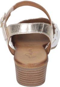 Piazza - Sandals - weiß/gold - 2