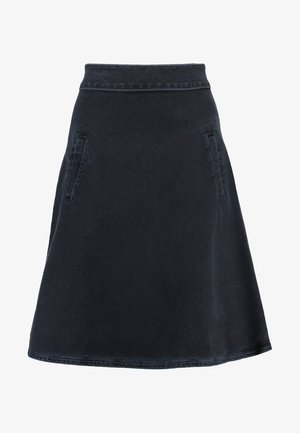STELLY - A-line skirt - blue/black