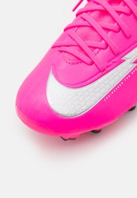 Nike Performance - JR MERCURIAL 7 ACADEMY MG MBAPPÉ - Moulded stud football boots - pink blast/white/black - 5