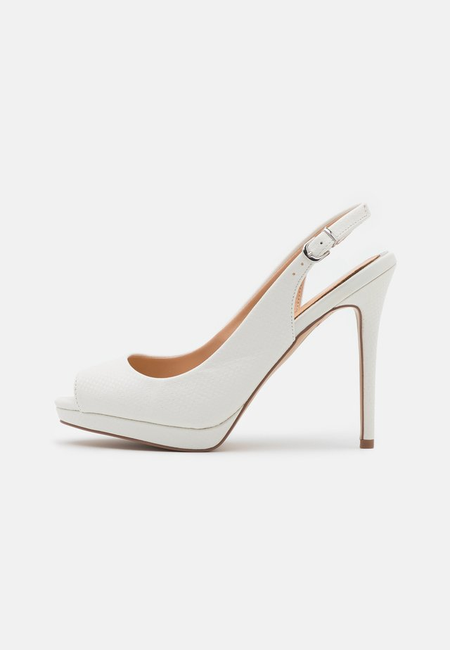 DALLAS - Peep toes - white shimmer