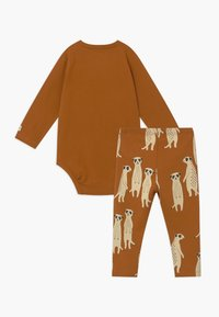 Lindex - LEO & MEERKAT SET  - Leggings - brown - 2