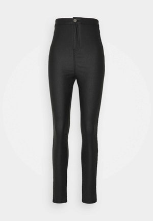 COATED VICE SCULPT DETAIL - Jeans Skinny Fit - black