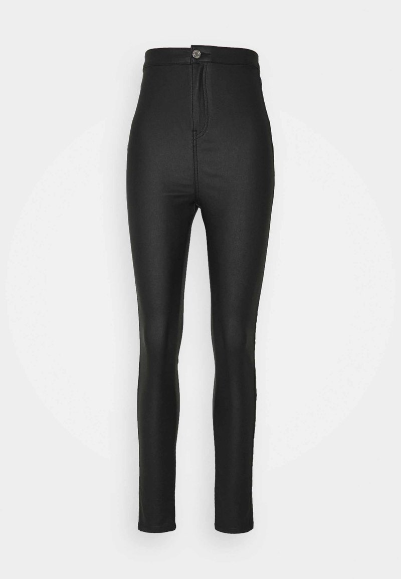 Missguided Tall - COATED VICE SCULPT DETAIL - Jeans Skinny Fit - black