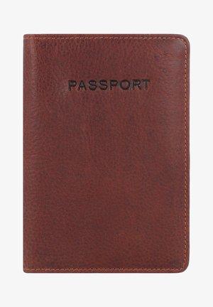 ANTIQUE - Passport holder - cognac