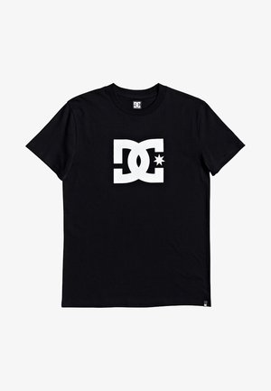STAR - Print T-shirt - black/snow white