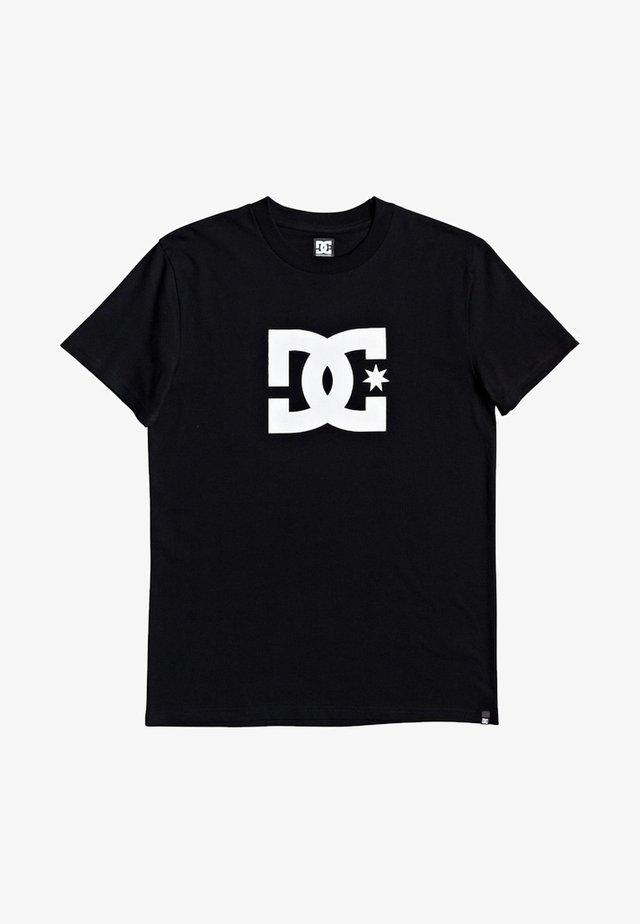 STAR - Camiseta estampada - black/snow white