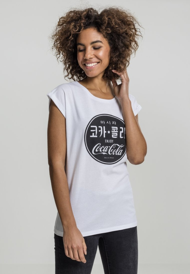 Merchcode - COCA COLA  - Print T-shirt - white