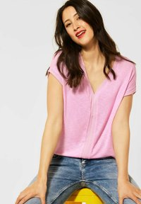 Street One - Print T-shirt - rosa - 1