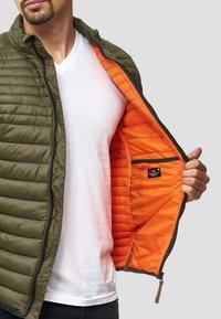 INDICODE JEANS - REGULAR FIT - Light jacket - army - 5