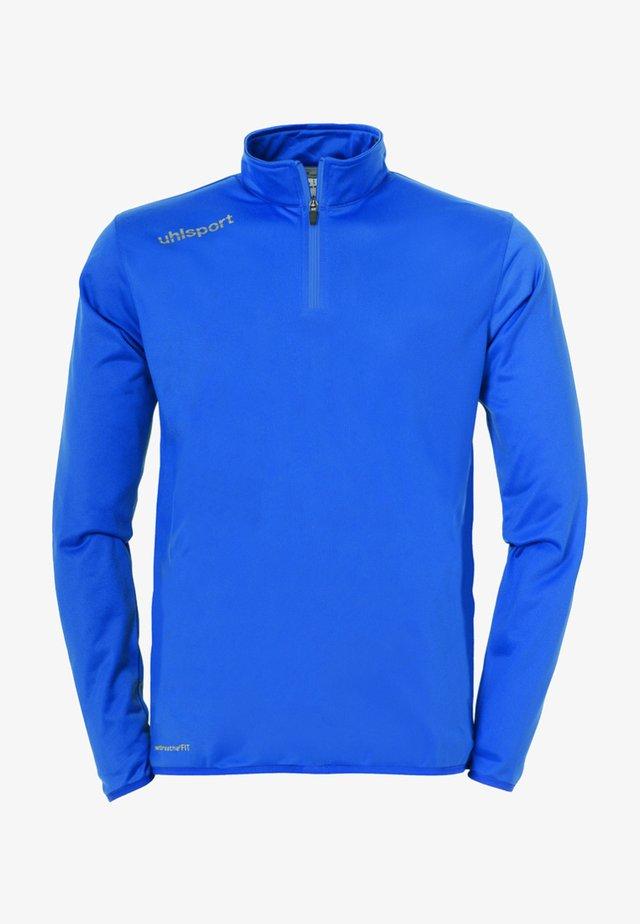 Sweatshirt - azurblau / weiß