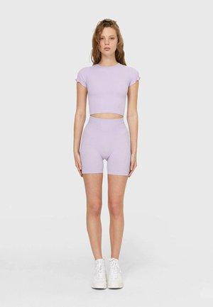 Shorts - mottled purple