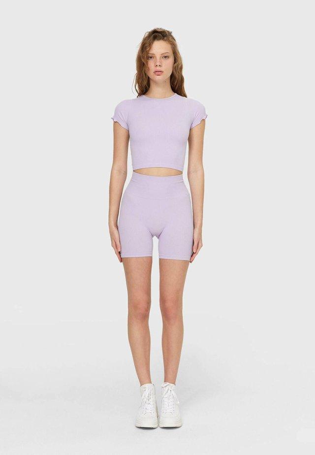 Kraťasy - mottled purple
