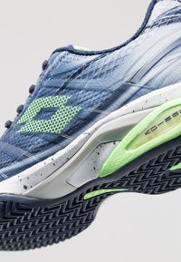 Lotto - MIRAGE 300 CLY - Zapatillas de tenis para tierra batida - navy blue/green neo/silver metal - 6