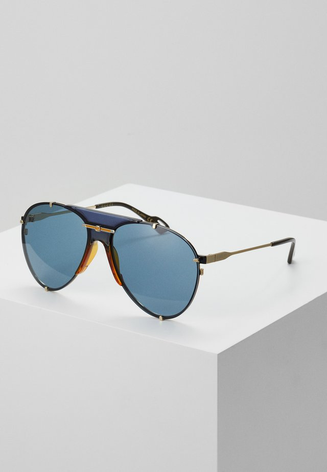Sunglasses - gold-coloured/blue