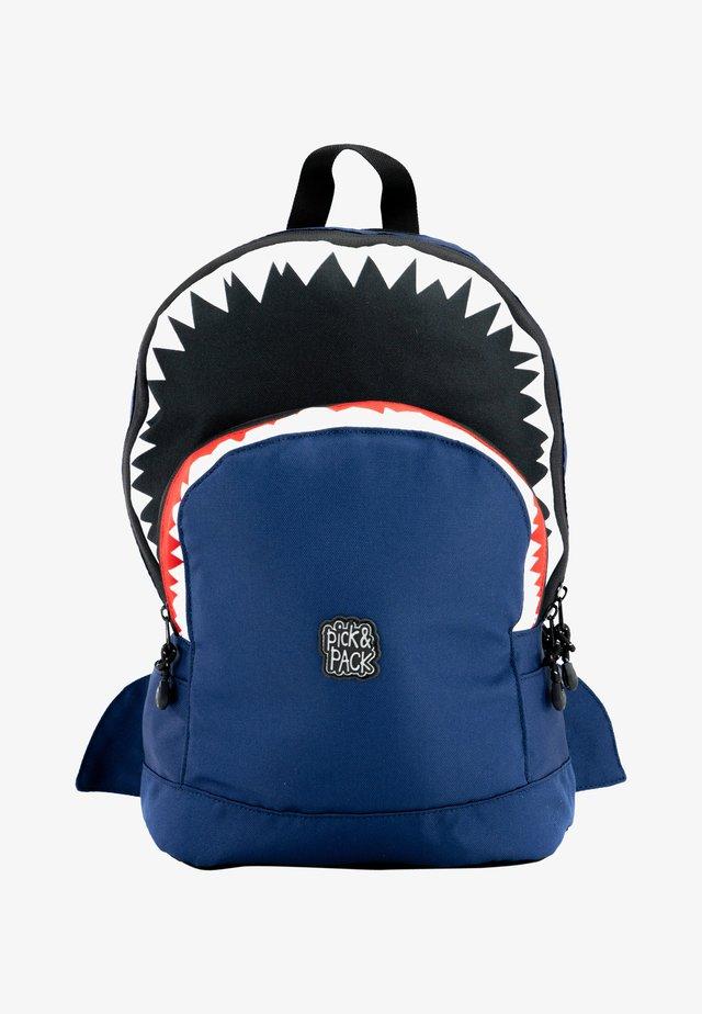 SHARK RUCKSACK M - KINDERRUCKSACK HAIE - Zaino - blau