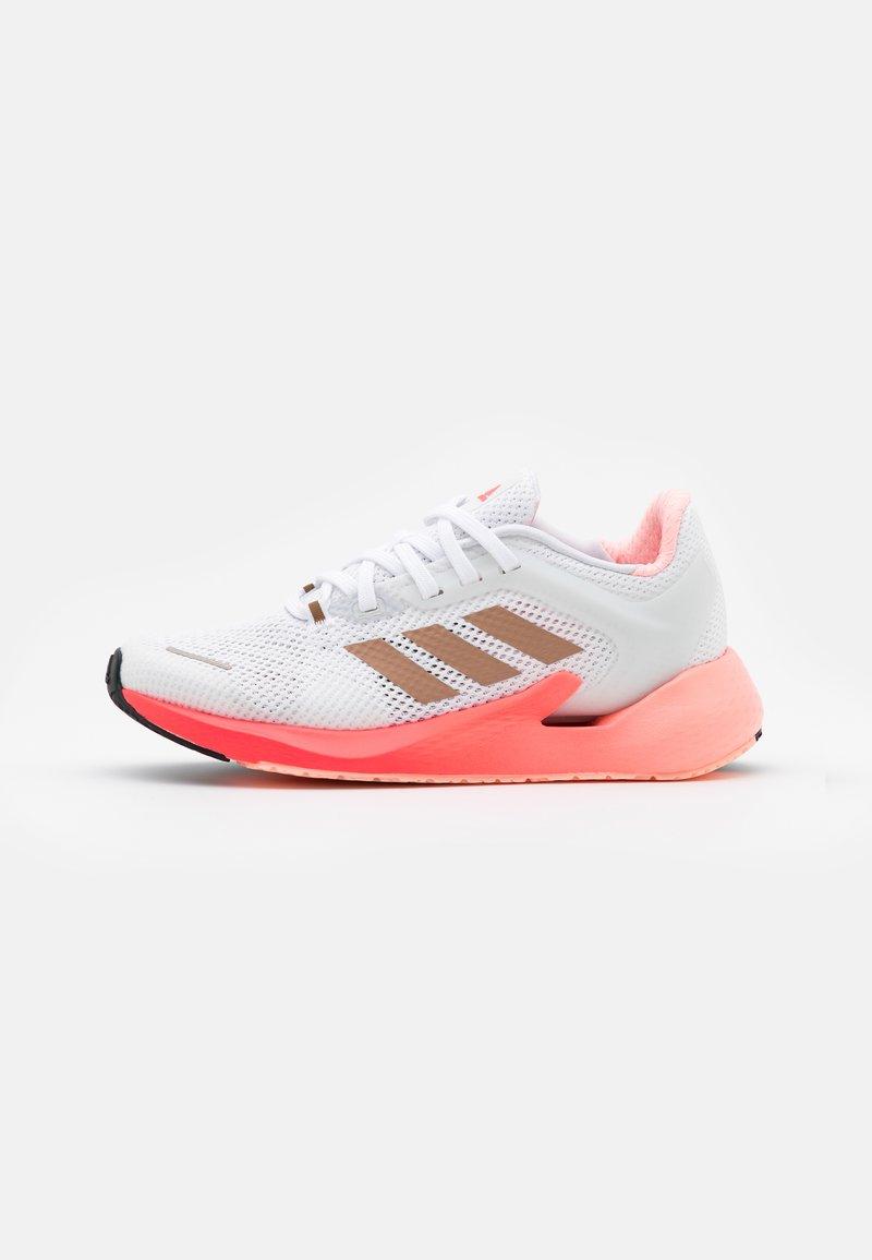 adidas Performance - ALPHATORSION  - Neutral running shoes - footwear white/copper metallic/signal pink