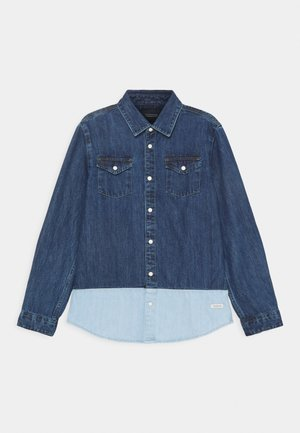 EASY WESTERN WITH SEASONAL DETAILS - Camisa - dark-blue denim