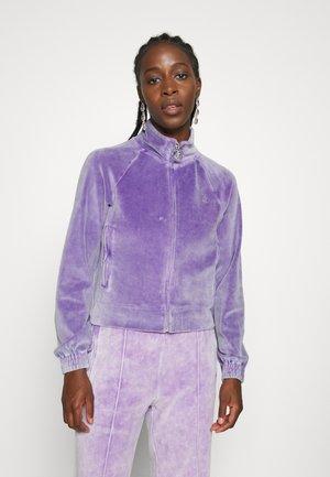 TANYA ACID TRACK - Zip-up sweatshirt - pastel lilac