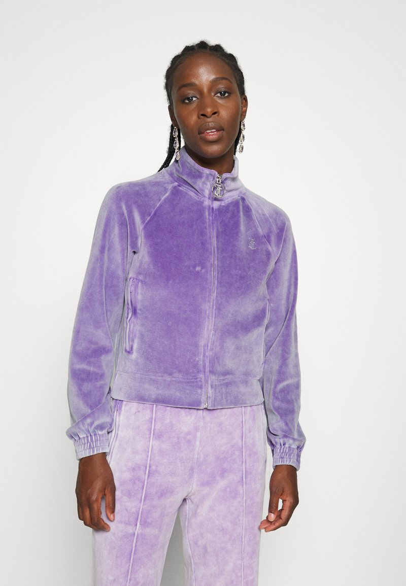 Juicy Couture - TANYA ACID TRACK - Sweater met rits - pastel lilac