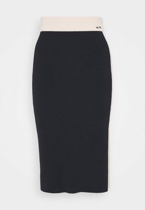 NANDINA - Pencil skirt - blau