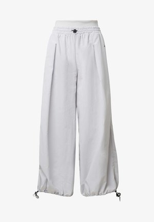 WIDE LEG WOVEN TRACKSUIT BOTTOMS - Pantaloni sportivi - white