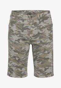 Cream - Denim shorts - grey camouflage - 4
