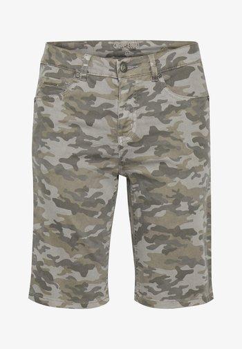 Denim shorts - grey camouflage