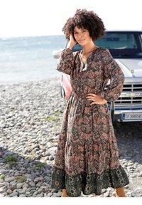 Angel of Style - Day dress - dunkelgrün,altrosa - 3