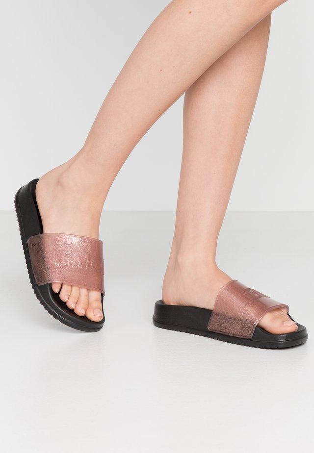 SHEA - Sandales de bain - transparent rose/glitter