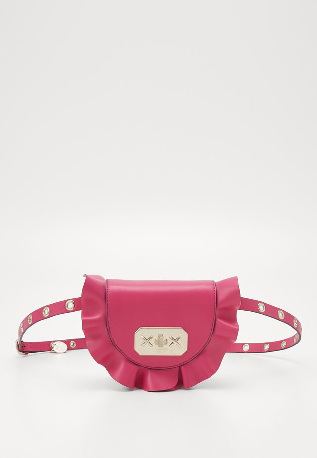 ROCK RUFFLES WAISTBAG - Bum bag - glossy pink