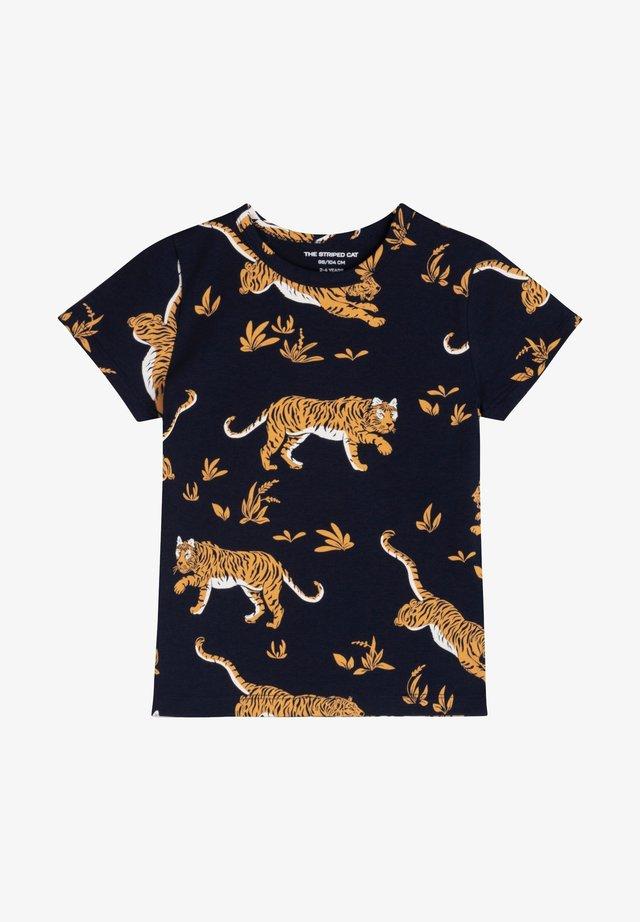 CLASSIC TIGER - T-shirt print - navy