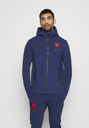 ENGLAND ENT HOODIE - Veste de survêtement - midnight navy/challenge red