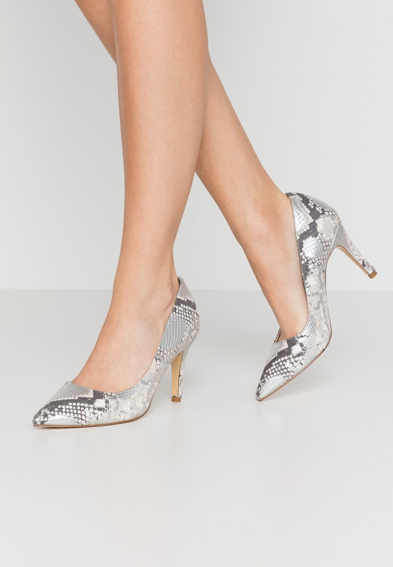 Dune London WIDE FIT - WIDE FIT ANNA - Escarpins à talons hauts - silver