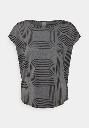 ONPJAMIA CURVED BURNOUT TEE - Print T-shirt - black