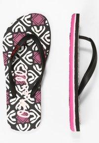 O'Neill - MOYA  - T-bar sandals - black with purple - 3