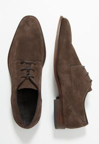 Bianco - BIACHESTER EFFECT DERBY - Smart lace-ups - dark brown - 1